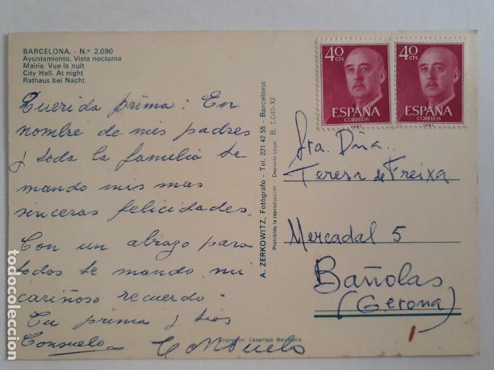 Postales: BARCELONA - AJUNTAMENT / AYUNTAMIENTO - ARBRE DE NADAL / ÁRBOL DE NAVIDAD - SEAT 600 - P42782 - Foto 2 - 234908900