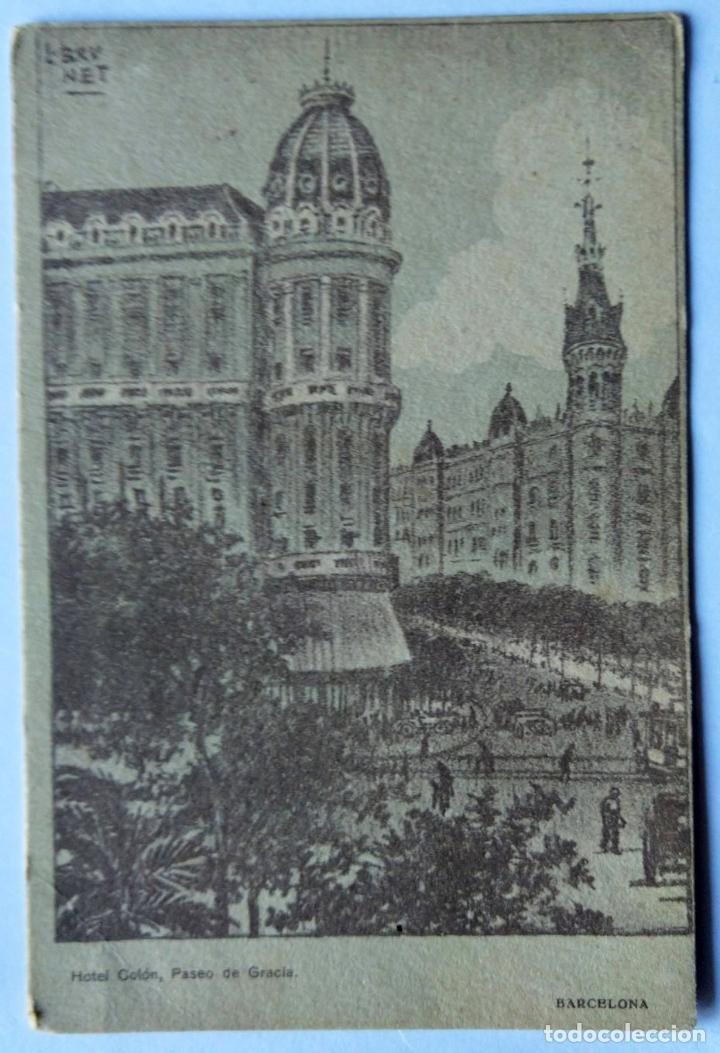 BARCELONA HOTEL COLON PASEO DE GRACIA ILUSTRADOR BRUNET N 764 (Postales - España - Cataluña Antigua (hasta 1939))