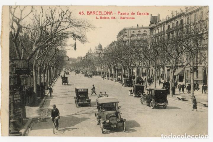 A06038 0045 BARCELONA PASEO DE GRACIA ROISIN Nº45 SC COCHES (Postales - España - Cataluña Antigua (hasta 1939))