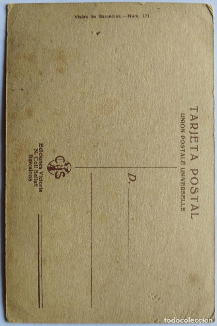 Postales: BARCELONA UNIVERSIDAD Y PLAZA DEL MISMO NOMBRE ILUSTRADOR BRUNET N 771 - Foto 2 - 234924155