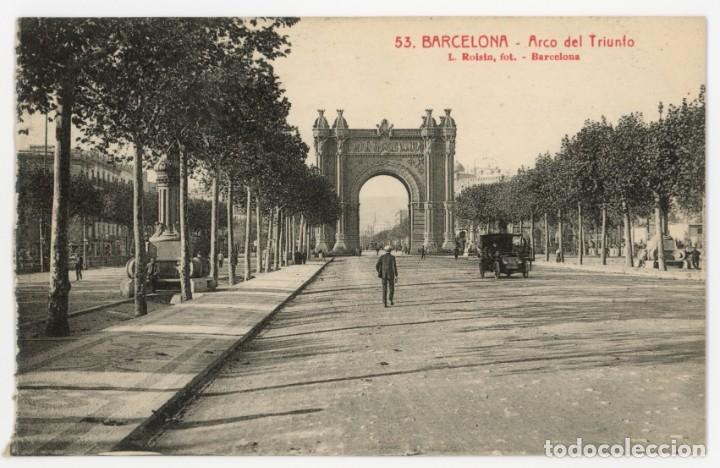 A06035 0053 BARCELONA ARCO DEL TRIUNFO ROISIN Nº53 SC COCHE (Postales - España - Cataluña Antigua (hasta 1939))