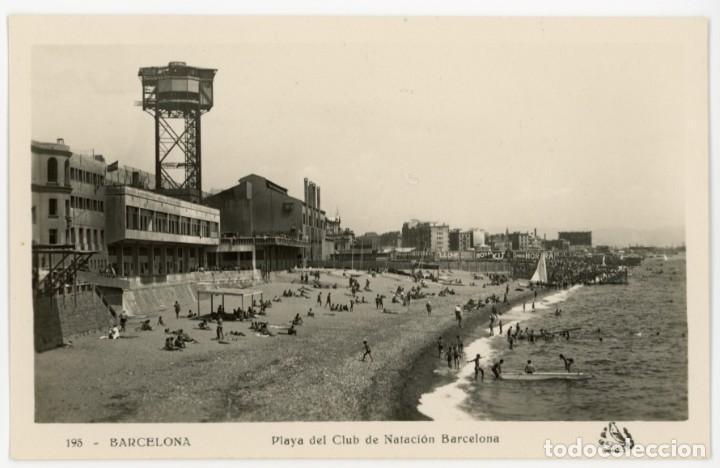 A06021 BARCELONA PLAYA DEL CLUB NATACION BARCELONA ORIOL Nº195 SC (Postales - España - Cataluña Antigua (hasta 1939))