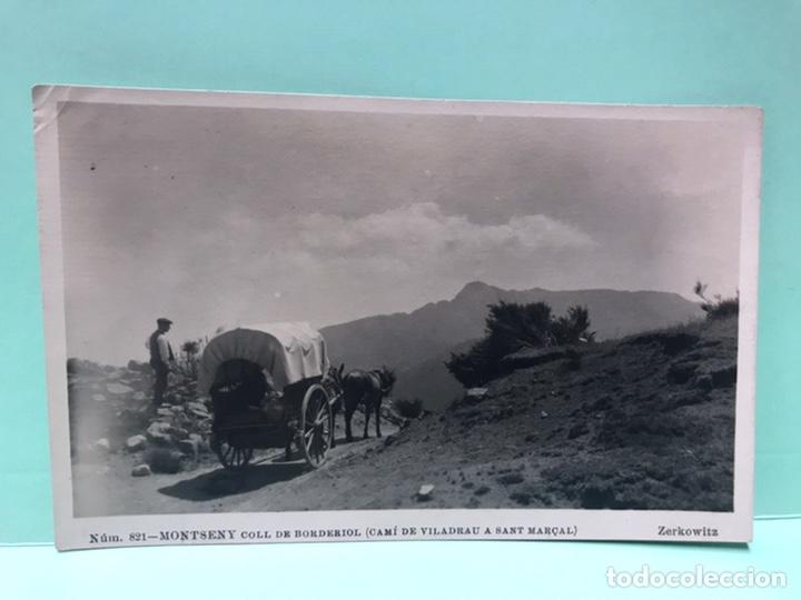 821 POSTAL MONTSENY - COLL DE BORDERIOL (CAMÍ DE VILADRAU A SANT MARÇAL) ZERKOWITZ SIN CIRCULAR (Postales - España - Cataluña Antigua (hasta 1939))