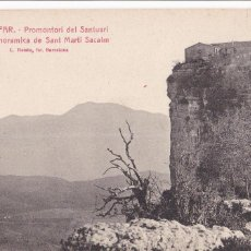 Postales: GIRONA, EL FAR PROMONTORI DEL SANTUARI VISTA DE SANT MARTI SACALM. ED. ROISIN Nº 4. SIN CIRCULAR. Lote 235159755