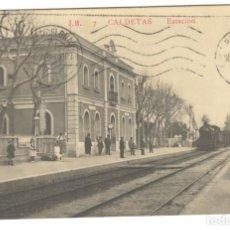 Postales: CALDETAS - ESTACIÓN J.B. 7 CIRCULADA EN 1913.. Lote 235194420