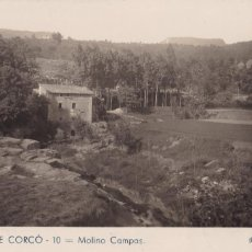 Postales: BARCELONA, STA. MARIA DE CORCÓ MOLINO CAMPAS. ED. C. SABATER Nº 10. CIRCULADA. Lote 235347400