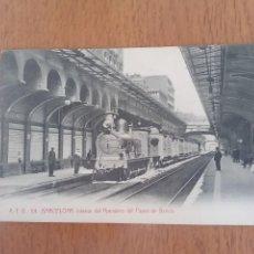 Postales: BARCELONA. INTERIOR DEL APEADERO DEL PASEO DE GRACIA.. Lote 235494955