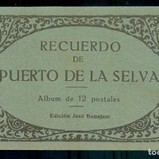 Postales: NUMULITE P0169 RECUERDO DE PUERTO PORT DE LA SELVA ALBUM DE 12 POSTALES EDICIÓN JOSÉ BENEJAM. Lote 235541670