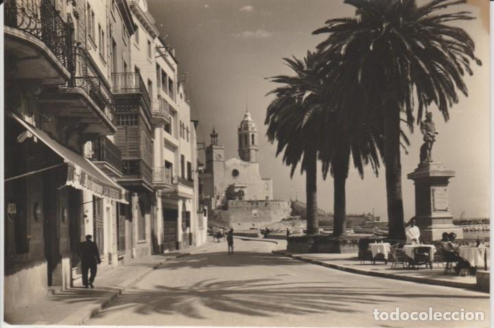 (501) SITGES. IGLESIA Y MONUMENTO AL GRECO .. SIN CIRCULAR .. VER EXPLICACION (Postales - España - Cataluña Moderna (desde 1940))