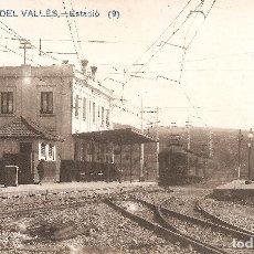 Postales: BARCELONA - SANT CUGAT DEL VALLÉS, ESTACIÓ.. Lote 235807500