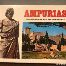 Postales: POSTALES DE AMPURIAS ANTIGUO ARCORDEÓN DE 17 FOTOS AÑOS 80. Lote 235815805
