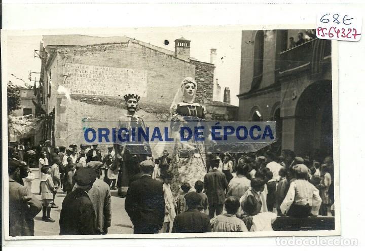 (PS-64327)POSTAL FOTOGRAFICA DE VILASSAR DE DALT-GEGANTS. (Postales - España - Cataluña Antigua (hasta 1939))