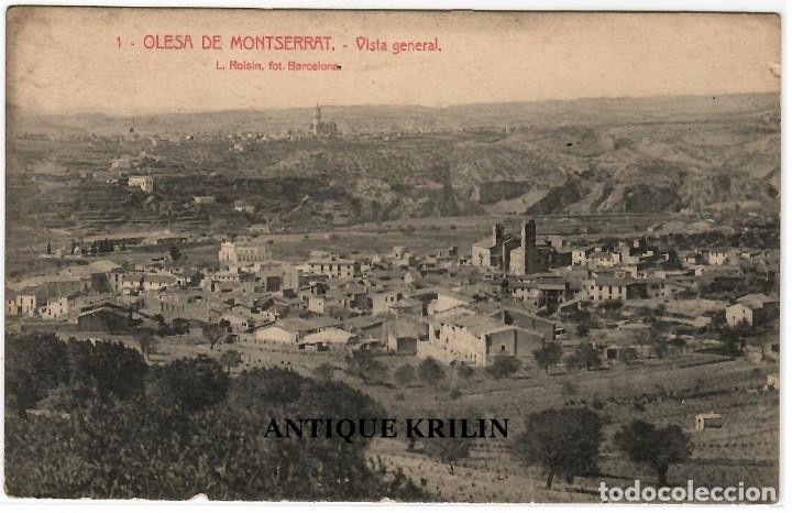 OLESA DE MONTSERRAT Nº 1 VISTA GENERAL .- FOTO L. ROISIN (Postales - España - Cataluña Antigua (hasta 1939))