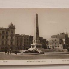 Cartoline: REUS - MONUMENTO A LOS CAÍDOS - P43875. Lote 236650755