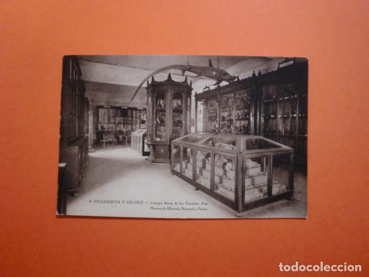 5 VILLANUEVA Y GELTRÚ COLEGIO SAMÁ DE LAS ESCUELAS PIAS MUSEO HISTORIA NATURAL Y FISICA ARTIGAS (Postales - España - Cataluña Antigua (hasta 1939))