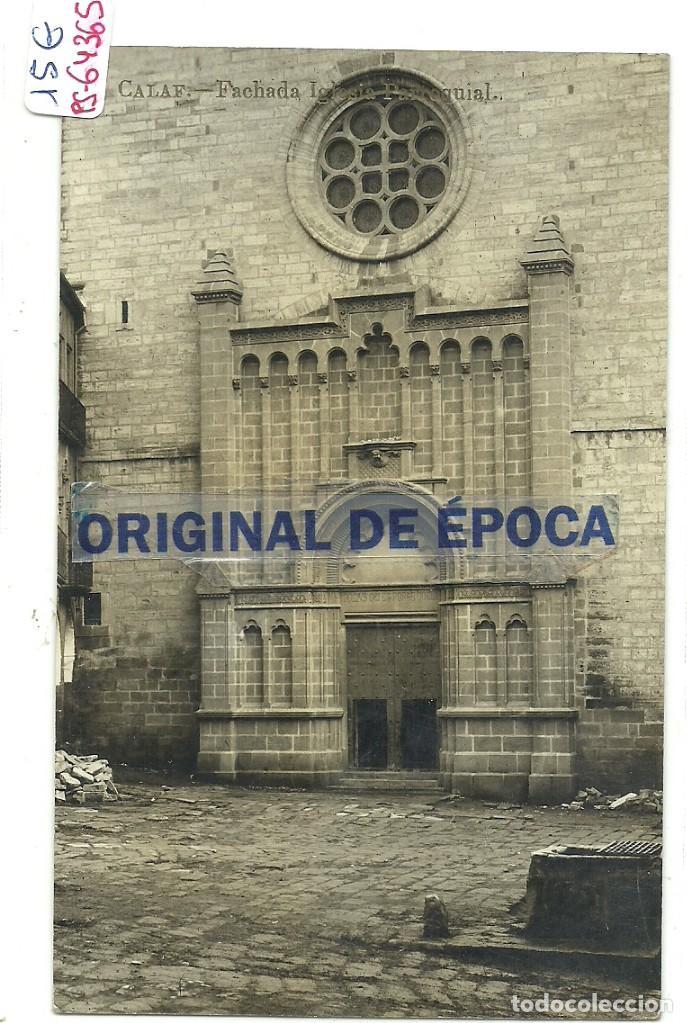 (PS-64365)POSTAL FOTOGRAFICA DE CALAF-FACHADA IGLESIA PARROQUIAL (Postales - España - Cataluña Antigua (hasta 1939))