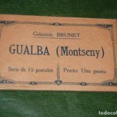 Postales: GUALBA (MONTSENY) - COLECCION BRUNET - SERIE DE 15 POSTALES - PAQUETE SIN ABRIR C.1911. Lote 236778735