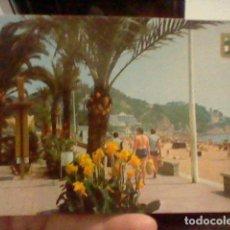 Postales: LLORET MAR PASEO PALMERAS ESC ORO Nº 88 CIRCVLADA AÑOS 80. Lote 237393255