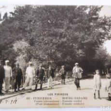 Postales: PUIGCERDA .PUENTE INTERNACIONAL.CIRCULADA 1914. Lote 237496925