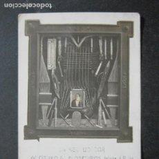 Postales: CATALUNYA-EL RECAUDADOR DEL CIRCULO DE PROPIETARIOS-FELICITACION-FOTOGRAFICA-POSTAL ANTIGUA-(77.210). Lote 238411650