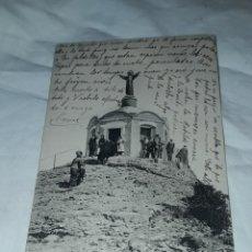 Postales: ANTIGUA POSTAL MONTSERRAT MIRADOR DE LA CÚSPIDE DE SAN JERÓNIMO AÑO 1915 ESCRITA CON SELLO. Lote 238676985