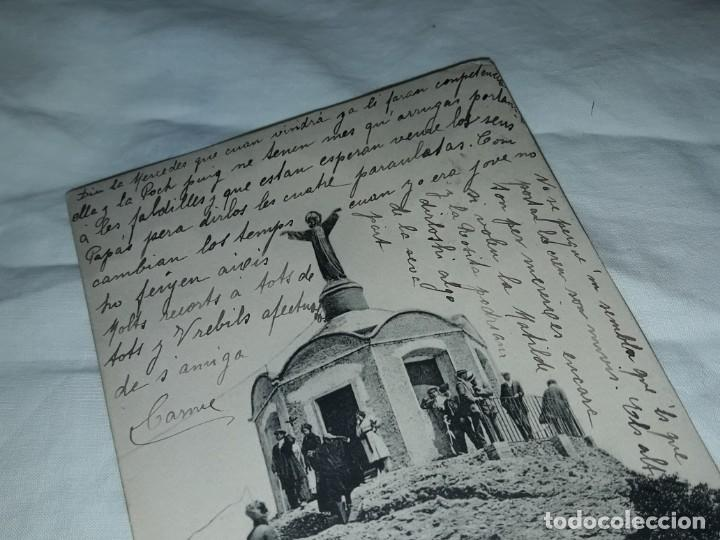 Postales: Antigua postal Montserrat Mirador de la Cúspide de San Jerónimo año 1915 escrita con sello - Foto 2 - 238676985