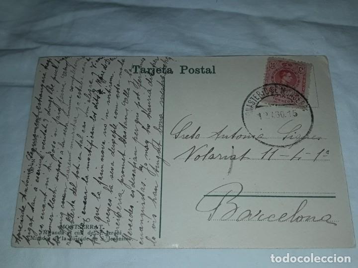 Postales: Antigua postal Montserrat Mirador de la Cúspide de San Jerónimo año 1915 escrita con sello - Foto 3 - 238676985