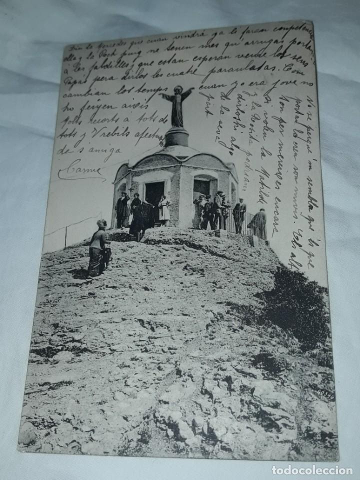 Postales: Antigua postal Montserrat Mirador de la Cúspide de San Jerónimo año 1915 escrita con sello - Foto 4 - 238676985