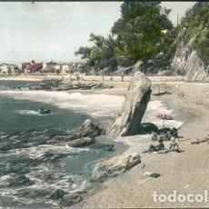 Postales: POSTAL LLORET DE MAR PLAYA DE LA CALETA COSTA BRAVA GERONA COLOREADA. Lote 238863890