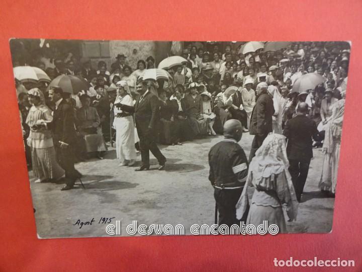 CASTELLTERSOL. BALL DEL CIRI. AGOST 1915. POSTAL FOTOGRÁFICA (Postales - España - Cataluña Antigua (hasta 1939))