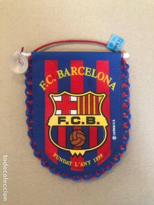 BANDERÍN FC BARCELONA OFICIAL CON SU ETIQUETA (Postales - España - Cataluña Antigua (hasta 1939))