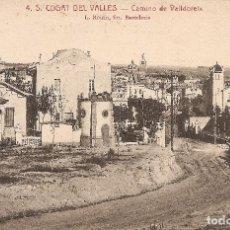 Postales: BARCELONA - SANT CUGAT DEL VALLÉS, CAMINO DE VALLDOREIX.. Lote 241914035