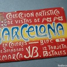 Postales: TACO CON 12 POSTALES DE BARCELONA BLOCK 1°. Lote 243443055