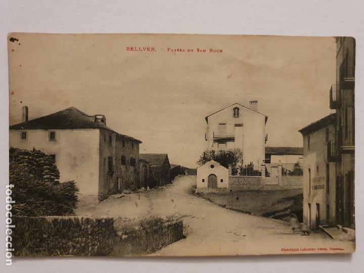 BELLVER DE CERDANYA - PLAÇA DE SANT ROC - A.T.V. - LCC - P46744 (Postales - España - Cataluña Antigua (hasta 1939))