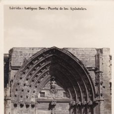 Postales: LLEIDA, ANTIGUA SEO PUERTA APOSTOLES. ED. ALSINA. Nº 10. POSTAL FOTOGRAFICA SIN CIRCULAR. Lote 243658430