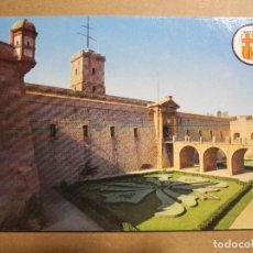 Postales: BARCELONA. VISTA PARCIAL CASTILLO DE MONTJUICH. N. 28 BERGAS IND. GRAF. NUEVA. Lote 243915350