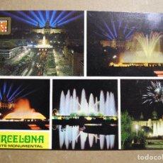 Postales: BARCELONA. FUENTE MONUMENTAL. DIVERSOS ASPECTOS. ESCUDO DE ORO N. 5719 NUEVA. Lote 243915635