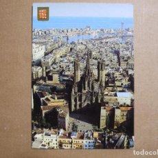 Postales: BARCELONA. CATEDRAL. VISTA AÉREA. ESCUDO DE ORO N. 5370 NUEVA. Lote 243915765