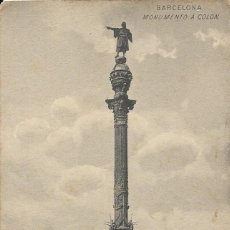 Postales: POSTAL ANTIGUA DEL MONUMENTO A COLÓN. BARCELONA. Lote 243928080