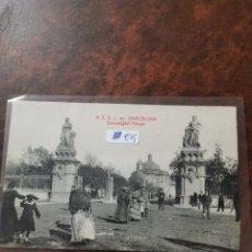 Postales: POSTAL DE BARCELONA, ENTRADA DEL PARQUE. Lote 243930175