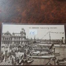 Postales: POSTAL DE BARCELONA, PUERTO DE LA PAZ Y EMBARCADERO. Lote 243930265