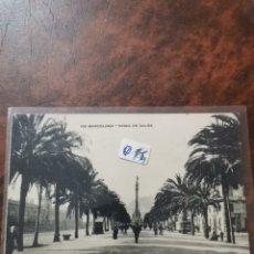 Postales: POSTAL DE BARCELONA, PASEO DE COLÓN. Lote 243930350