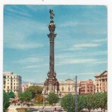 Postales: M01024 BARCELONA - MONUMENTO A CRISTOBAL COLON 1962 - RAKER Nº44 CIRCULADA SEAT 1400 PEUGEOT 403. Lote 244170260