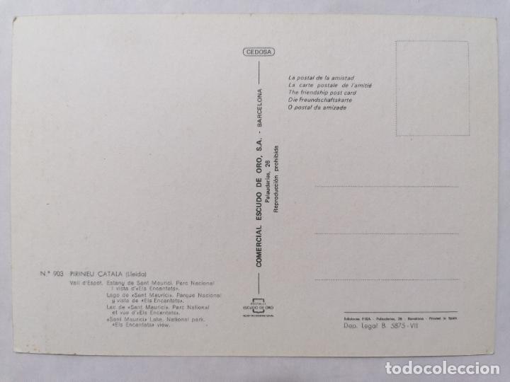 Postales: POSTAL LLEIDA, PIRINEO CATALAN, VISTA GENERAL, AÑOS 70 - Foto 2 - 244466565