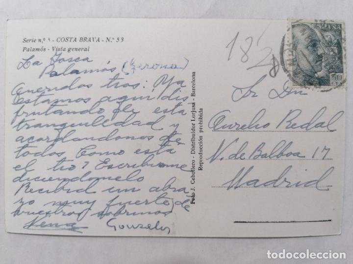 Postales: POSTAL PALAMOS, COSTA BRAVA, VISTA GENERAL, AÑOS 60 - Foto 2 - 244468195