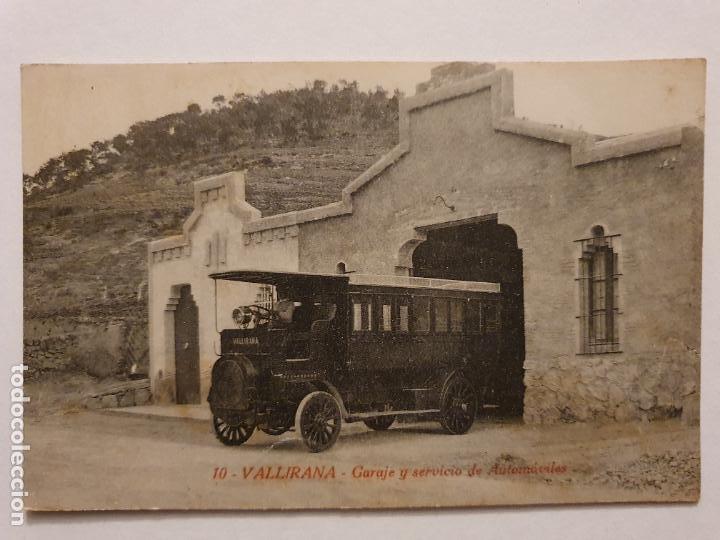 VALLIRANA - GARAJE Y SERVICIO DE AUTOMÓVILES - AUTOBÚS - P44453 (Postales - España - Cataluña Antigua (hasta 1939))