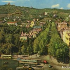 Postales: M01047 BARCELONA LA AVENIDA DEL TIBIDABO 1962 UBACH Nº579 SC TRANVIA. Lote 244634305