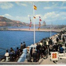 Postales: M01054 BARCELONA ROMPEOLAS DESDE EL FARO 1965 PERGAMINO Nº542 SC. Lote 244635050