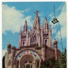 Postales: M01055 BARCELONA TEMPLO EXPIATORIO DEL TIBIDABO 1964 POSTALCOLOR Nº12 CIRCULADA COCHES. Lote 244635110