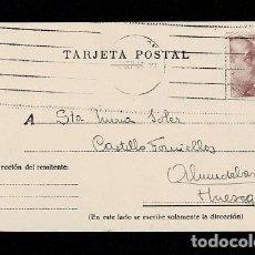 Postales: C10-3-28 HISTORIA POSTAL TARJETA POSTAL CIRCULADA EN HUESCA, CON SELLO DE FRANCO DE 25 CTS.. Lote 244644945